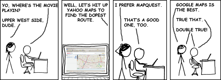Well, it's better than Live Search Maps.