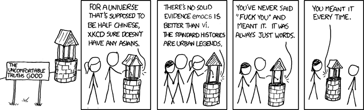 xkcd is racially challenged. Seed well.