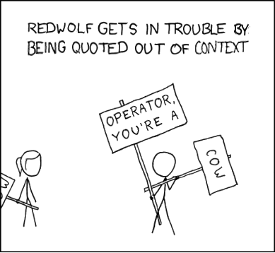 No offence, RedWolf.