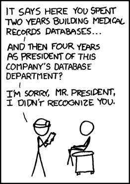 We don't need your 'SQL'. For security reasons, we develop our own databases.