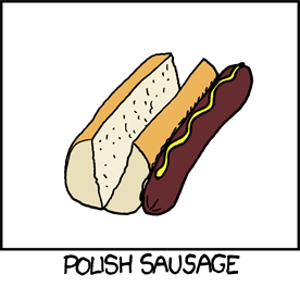 ha ha, stupid pollocks! The sausage goes INSIDE the bun!