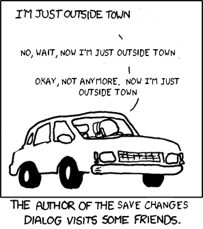 By holding your pointer over this comic you have now changed it. Before, you couldn't see the title text. Now you can. Do you want to save?