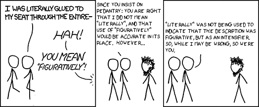 Literally pedantic by chridd making xkcd slightly worse by chridd 29th jun 2010 aloadofball Images