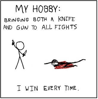 Knives And Guns, by philsov - Making xkcd Slightly Worse