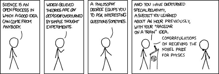 More likely version: You have a philosophy degree, you know nothing about physics, STFU and serve me my coffee.
