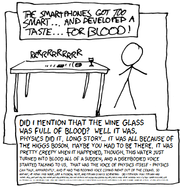 I guess it's a good thing we'd left the glass of blood there, or else who knows what the smartphones would've done.