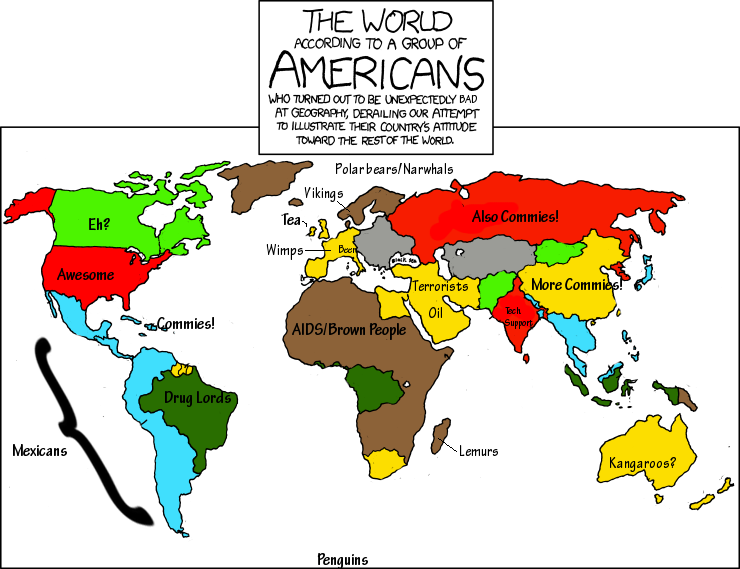 World according to americans by heavymeds making xkcd slightly worse by heavymeds 21st jan 2011 gumiabroncs