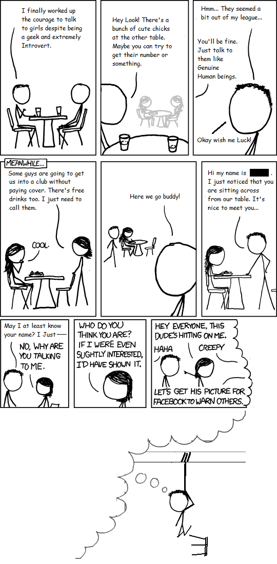 Please no discussion regarding PUA here. This comic, just like any other comics in this thread.. are just made to make xkcd slightly worse...