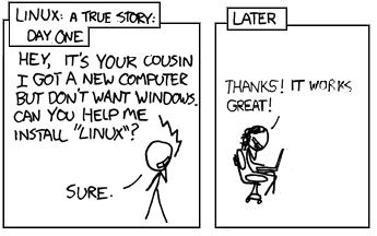 I've always had problems with Linux, either installing it or setting it up for things such as multimedia playing etc.