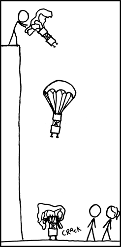 And I spent ages designing that parachute and holder...