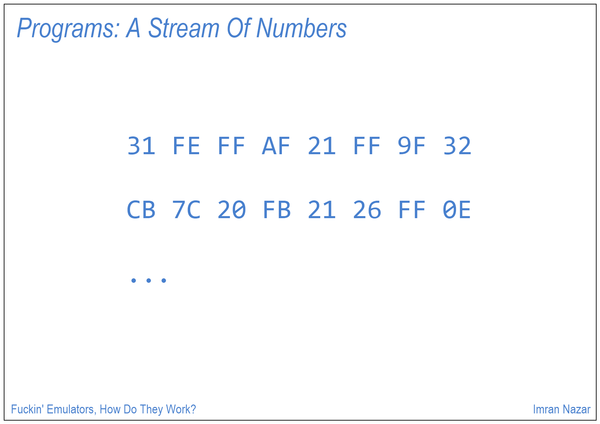 Slide 04: Programs: A Stream of Numbers