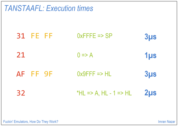 Slide 08: TANSTAAFL: Execution Times