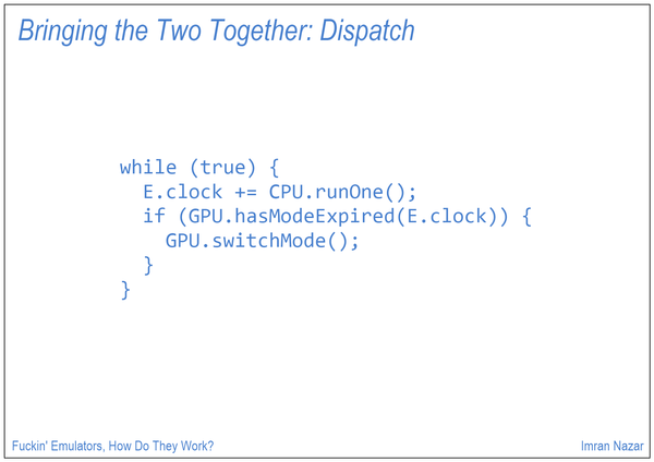 Slide 17: Bringing the Two Together: Dispatch